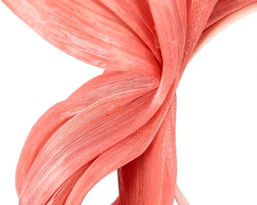 Fascinators Online - Coral bow racing fascinator by Fillies Collection 3