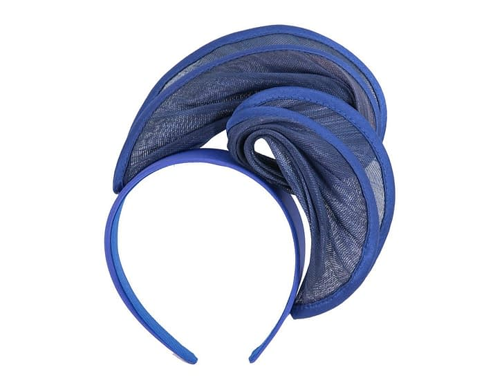 Fascinators Online - Royal blue headband racing fascinator by Fillies Collection 2
