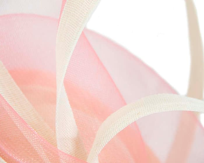 Fascinators Online - Edgy cream and coral fascinator by Fillies Collection 3
