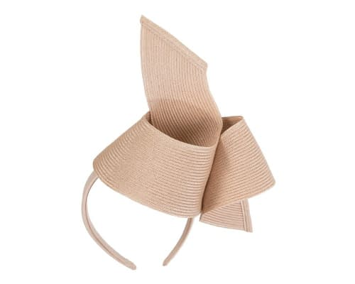 Fascinators Online - Stylish nude Australian Made racing fascinator by Max Alexander 2