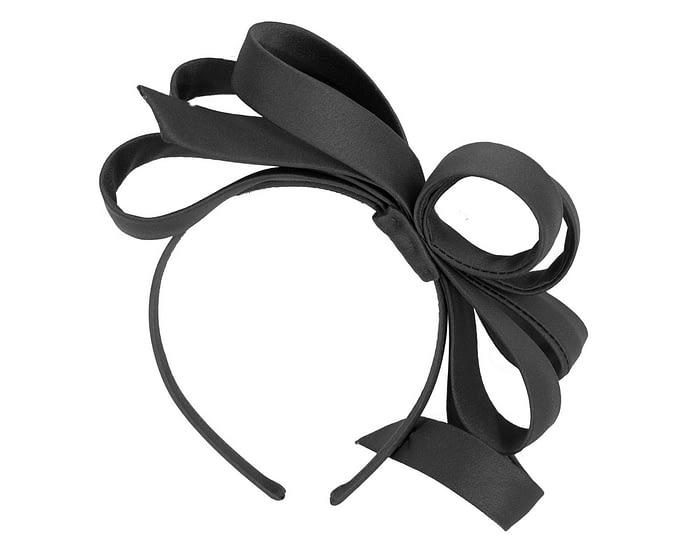 Fascinators Online - Black bow racing fascinator by Max Alexander 4