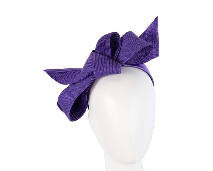 Fascinators Online - Large purple bow fascinator by Max Alexander 1