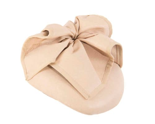 Fascinators Online - Nude leather pillbox fascinator by Max Alexander 2
