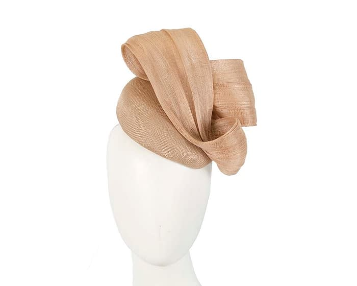 Fascinators Online - Nude pillbox fascinator with large bow by Fillies Collection 1