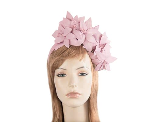 Fascinators Online - Lavender leather flower headband by Fillies Collection 1