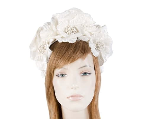 Fascinators Online - Cream flower halo 17