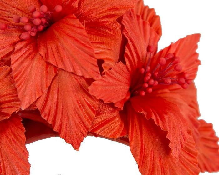Fascinators Online - Burnt Orange sculptured handcrafted flower fascinator by Fillies Collection 3