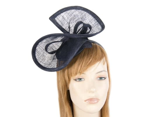 Fascinators Online - Navy sinamay racing fascinator by Max Alexander 21