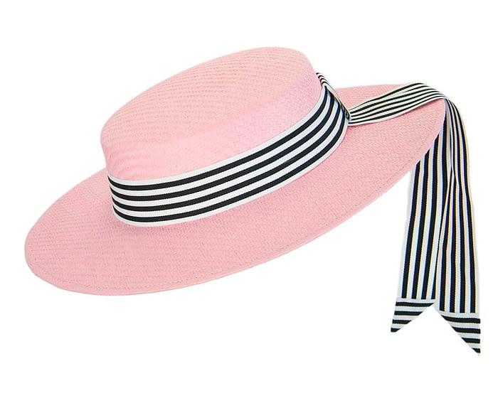 Fascinators Online - Pink boater hat by Max Alexander 2