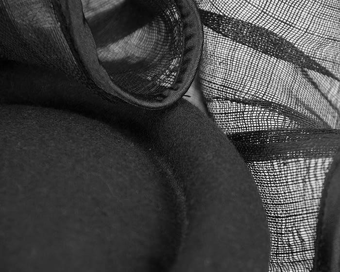 Fascinators Online - Exclusive black winter fascinator by Fillies Collection 4