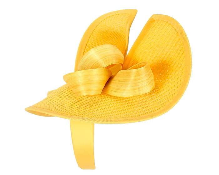 Fascinators Online - Yellow fascinator with bow by Fillies Collection 3