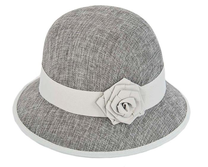 Fascinators Online - Silver spring racing bucket hat by Max Alexander 2
