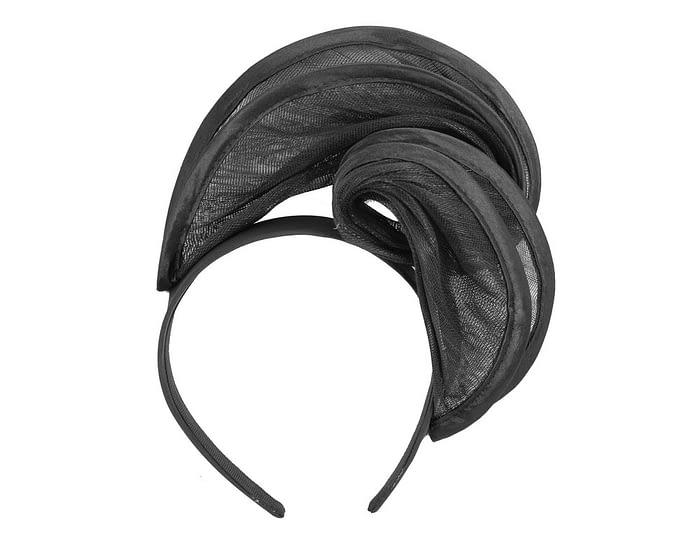 Fascinators Online - Black headband racing fascinator by Fillies Collection 2