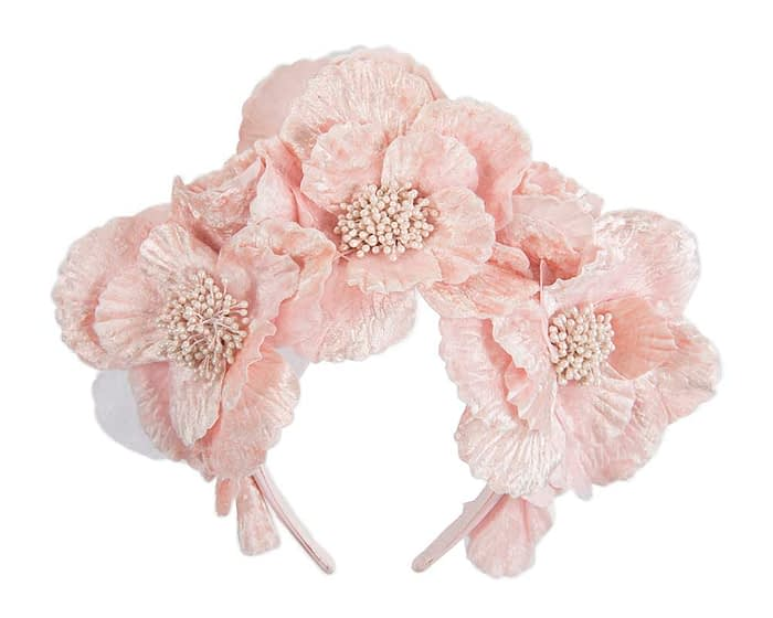 Fascinators Online - Pink flower halo by Fillies Collection 2