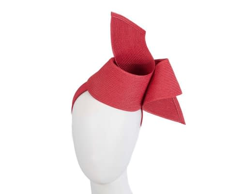 Fascinators Online - Stylish red Australian Made racing fascinator by Max Alexander 1