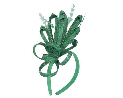 Fascinators Online - Green spiky sinamay racing fascinator by Max Alexander 2