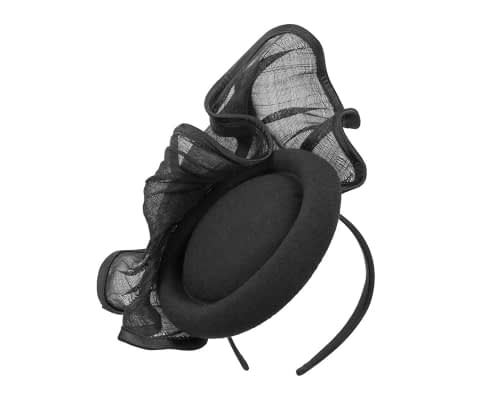 Fascinators Online - Exclusive black winter fascinator by Fillies Collection 2