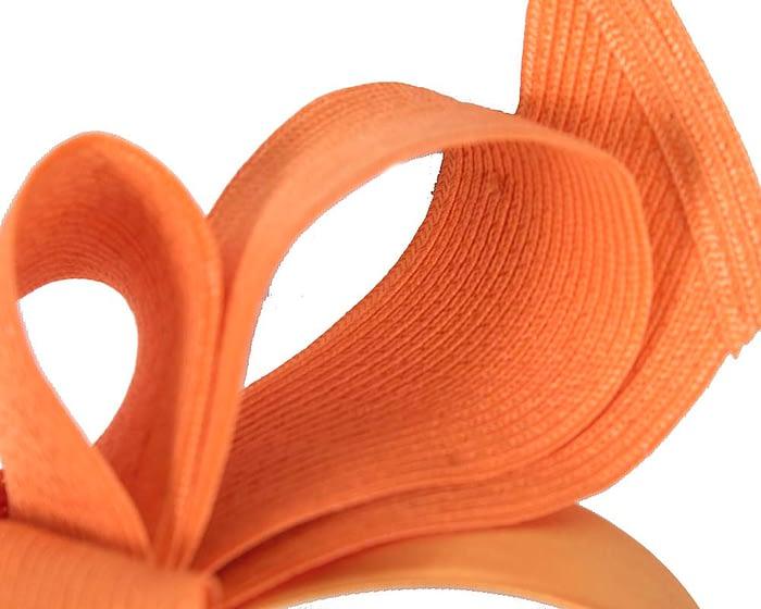Fascinators Online - Large orange bow fascinator by Max Alexander 3