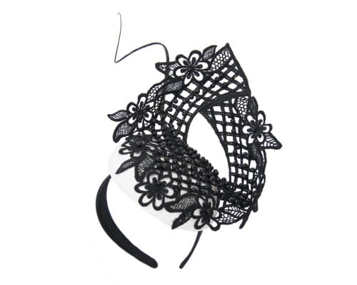 Fascinators Online - White & black lace pillbox fascinator by Fillies Collection 2
