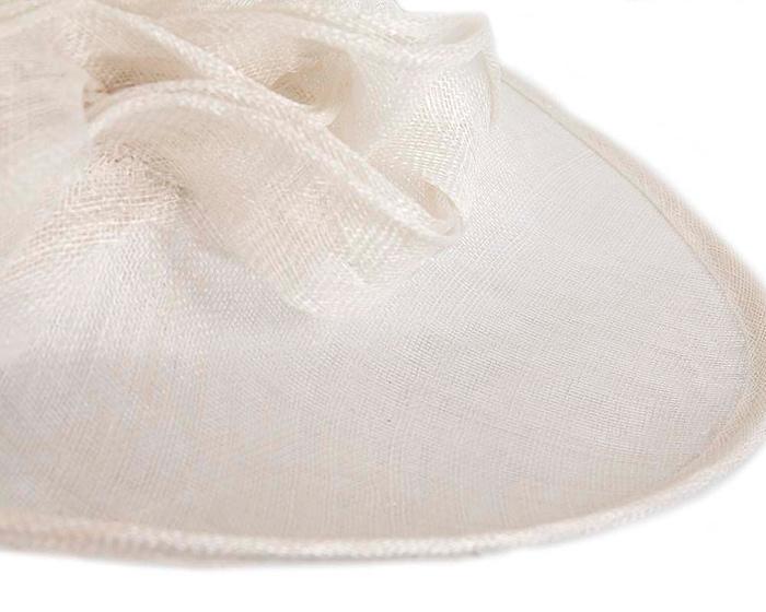 Fascinators Online - Wide brim white sinamay racing hat by Max Alexander 5