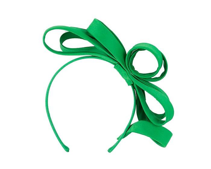 Fascinators Online - Green bow racing fascinator by Max Alexander 4