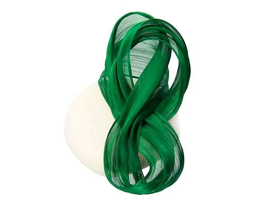 Fascinators Online - Exclusive Cream and Green winter pillbox fascinator 3