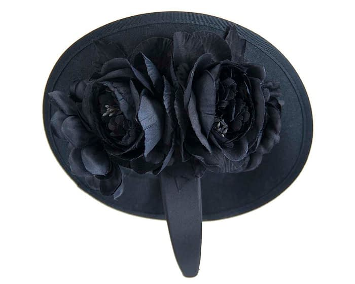 Fascinators Online - Large navy plate with flowers by Fillies Collection 6