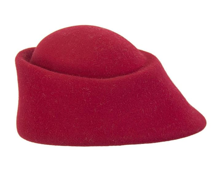 Fascinators Online - Designers red felt hat 3