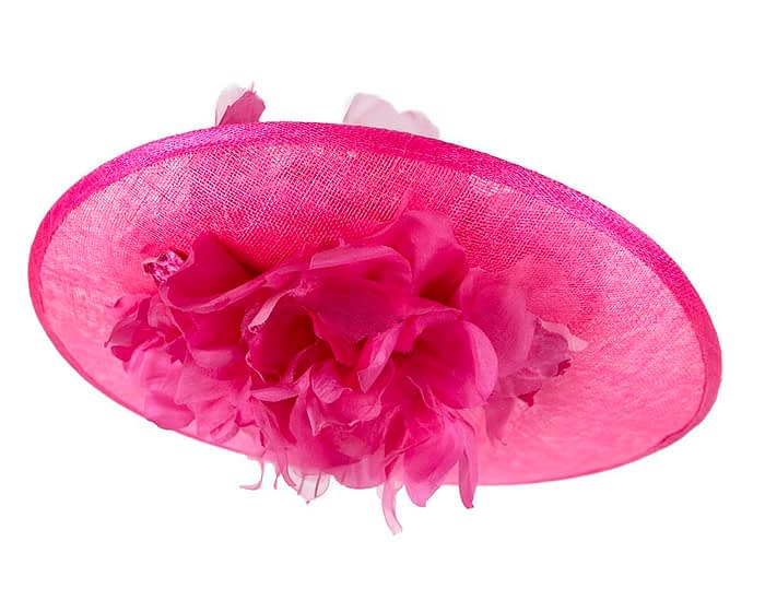 Fascinators Online - Large fuchsia plate racing fascinator by Fillies Collection 6