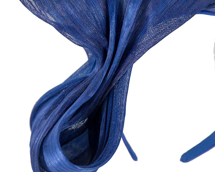 Fascinators Online - Royal blue bow racing fascinator by Fillies Collection 3