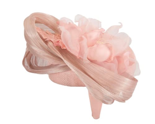 Fascinators Online - Pink pillbox fascinator with large flower by Fillies Collection 4