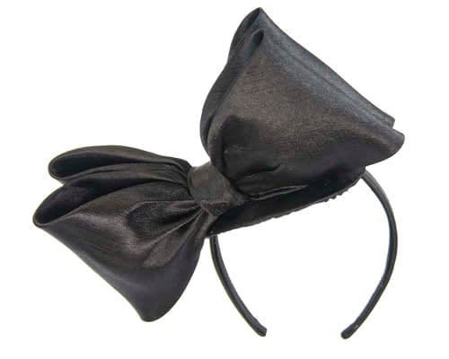 Fascinators Online - Large black bow fascinator by Max Alexander 4