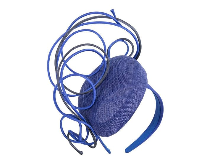Fascinators Online - Designers royal blue & navy racing fascinator by Fillies Collection 2