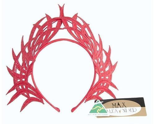 Fascinators Online - Red lace crown 1