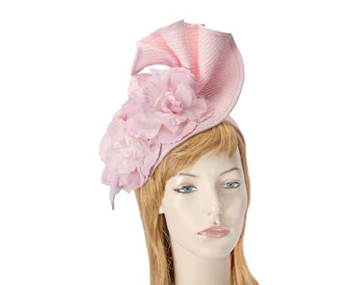 Fascinators Online - Bespoke large pink flower fascinator by Fillies Collection 1
