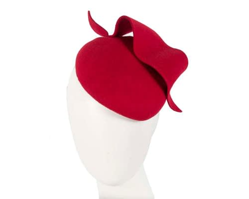 Fascinators Online - Red felt winter fashion pillbox fascinator by Max Alexander 30