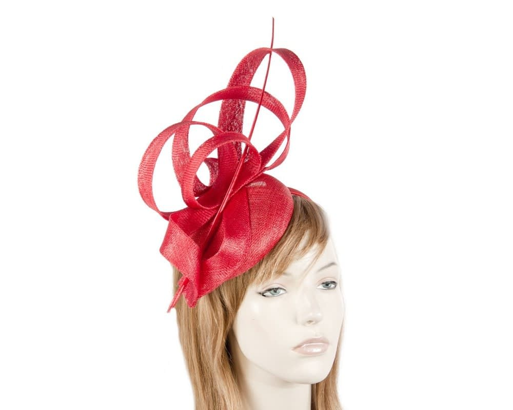 Red racing fascinator by Max Alexander