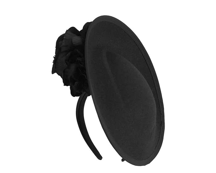 Fascinators Online - Large black plate with flowers by Fillies Collection 2