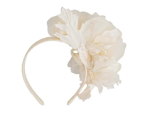 Fascinators Online - Cream Silk Flower Fascinator by Fillies Collection 4