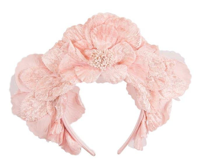 Fascinators Online - Pink flower halo by Fillies Collection 4