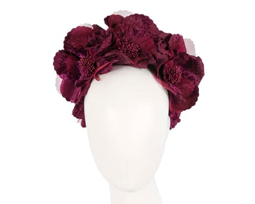 Fascinators Online - Wine flower halo 19
