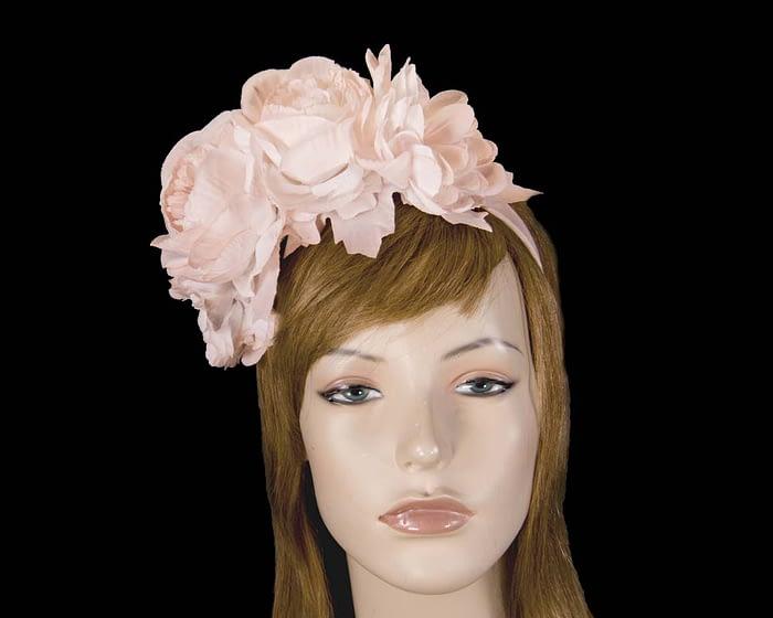 Fascinators Online - Blush flower headband fascinator by Max Alexander 1