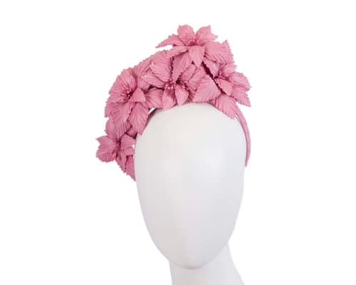 Fascinators Online - Dusty Pink sculptured handcrafted flower fascinator by Fillies Collection 1