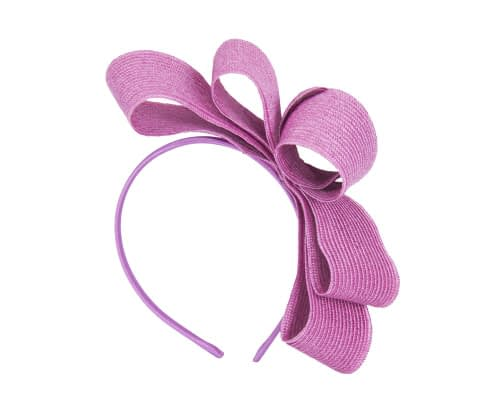 Fascinators Online - Large fuchsia bow racing fascinator by Max Alexander 2