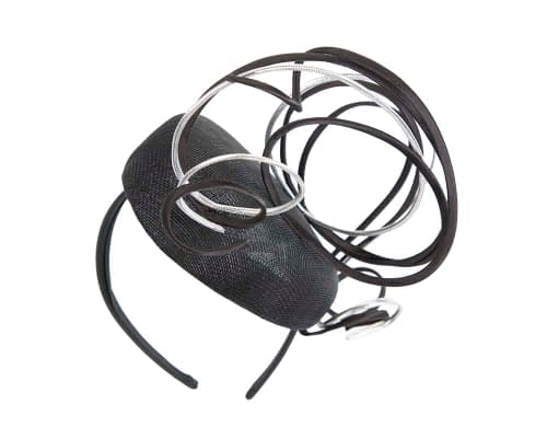 Fascinators Online - Designers black & silver racing fascinator by Fillies Collection 6
