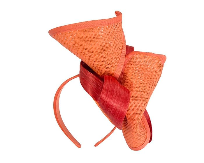 Fascinators Online - Orange fascinator with bow by Fillies Collection 6