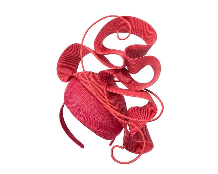 Fascinators Online - Designers red racing fascinator by Fillies Collection 2