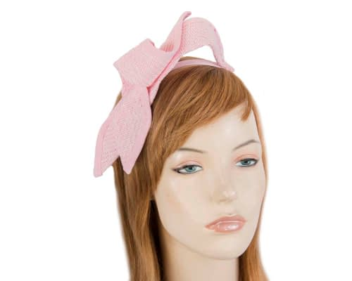 Fascinators Online - Petite pink bow fascinator by Max Alexander 18