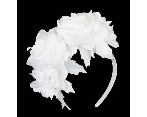 Fascinators Online - Cream flower headband fascinator by Max Alexander 2