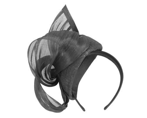Fascinators Online - Black pillbox fascinator with silk bow by Fillies Collection 4